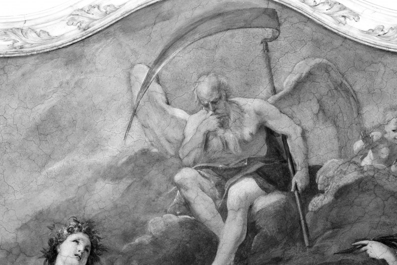 Particolare dello decorazione pittorica della Sala di Cerere, Pomona e Saturno (Fototeca ISAL-BAMS Photo Rodella)