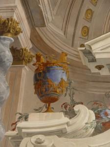 Fratelli Galliari, Villa Arconati al Castellazzo di Bollate, Sala dei Galliari, particolare delle decorazioni ad affresco (Fototeca ISAL, fotografia di Ferdinando Zanzottera)