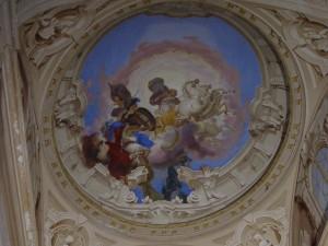 Giocondo Albertolli (attribuito a), Villa Arconati a Bollate, Scalone, particolare del Carro di Apollo (Fototeca ISAL).