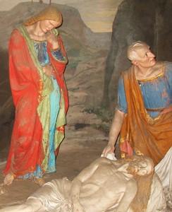 Luigi Marchesi, Deposizione di Gesù nella Sindone (particolare), Sacro Monte di Varallo.