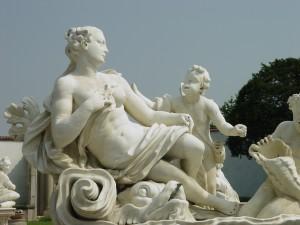 Lainate, Villa Visconti Borromeo Litta, particolare del gruppo scultoreo della Fontana di Galatea (Fototeca ISAL, fotografia di Ferdinando Zanzottera)