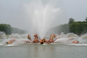 Versaille, Reggia, particolare del gruppo scultoreo della Fontana di Nettuno